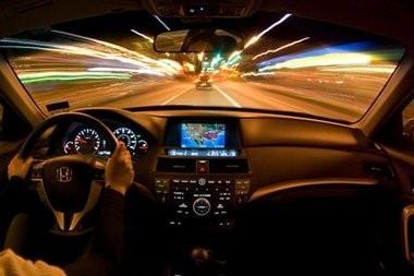 вождения автомобиля в ночное время