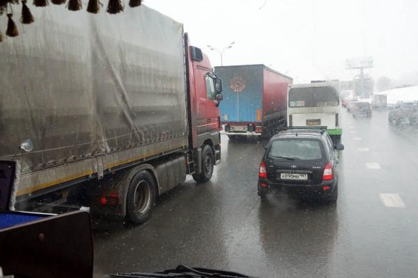 въeзд в границы МКАД грузовикам