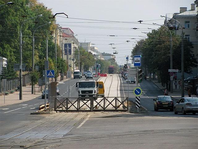 трамвайные пути на улице Козлова
