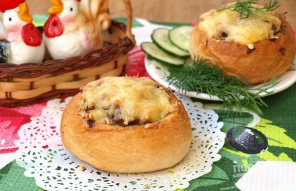 Бутерброды в булочке