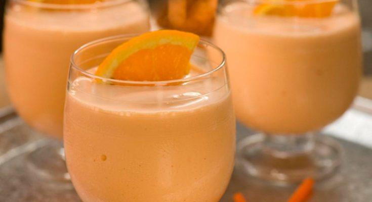 приготовление апельсинового молочного коктейля