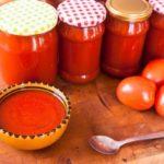 Консервированный пряный домашний кетчуп